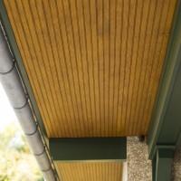 home exterior underside of roof