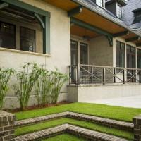 home exterior porch and backyard