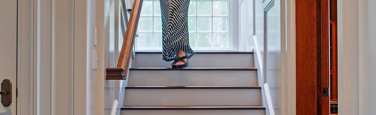 interior millwork photo of stairs
