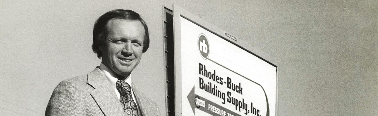 historic portrait of rhodes-buck building supply