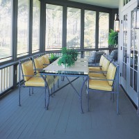 scenic flooring on screened back porch